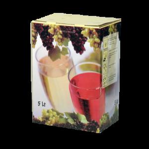 ημίγλυκο κρασί ροζέ 5 λίτρα
